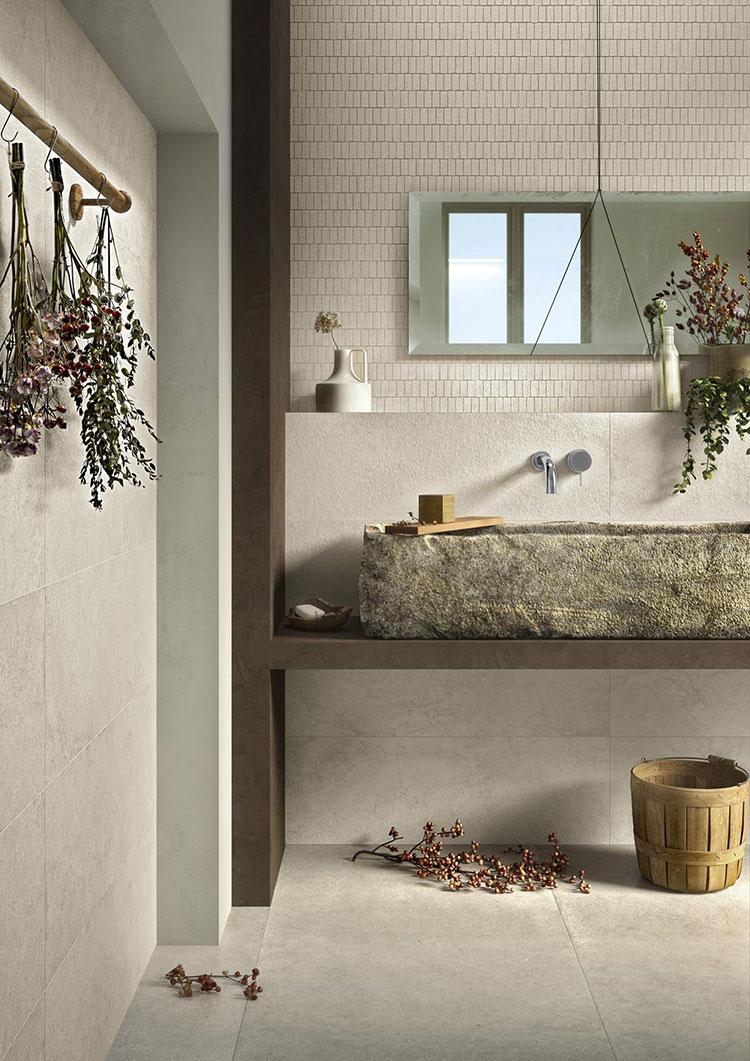 Piastrelle per bagno beige n.15