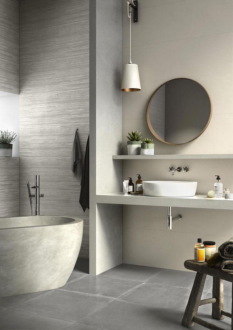 Piastrelle per bagno beige e grigie n.04