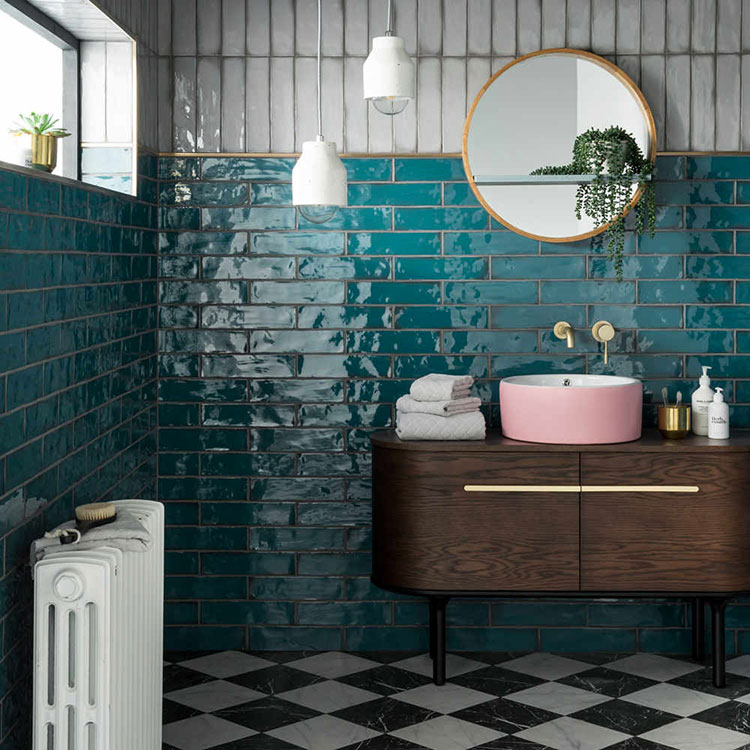 Idee per bagno color ottanio n.1