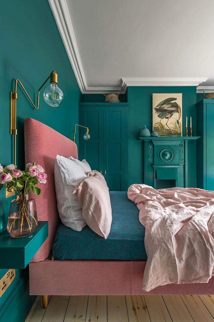 Idee per camera da letto color ottanio n.1