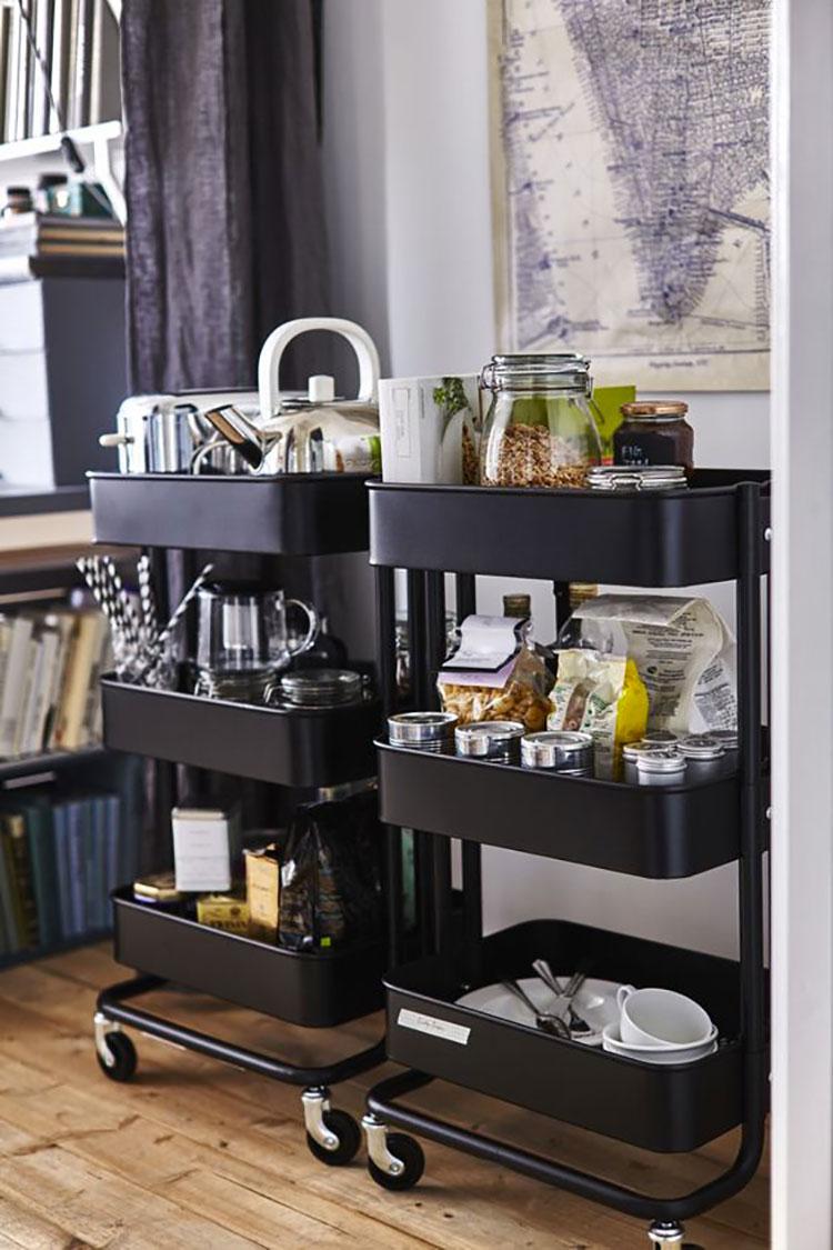 Modello di carrello per cucina industrial Ikea n.01
