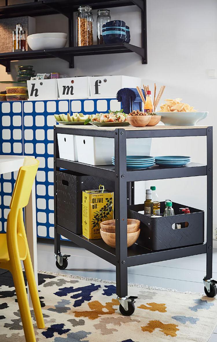Modello di carrello per cucina industrial Ikea n.02