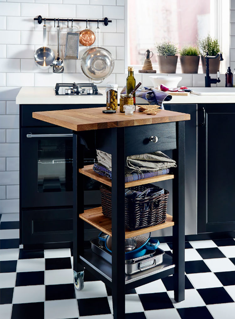 Modello di carrello per cucina industrial Ikea n.03