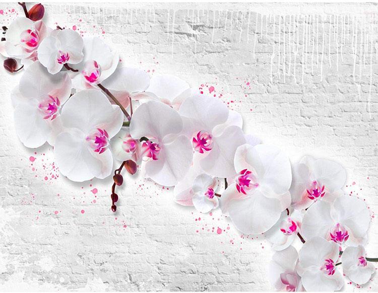 modello di carta da parati floreale 3d n.02