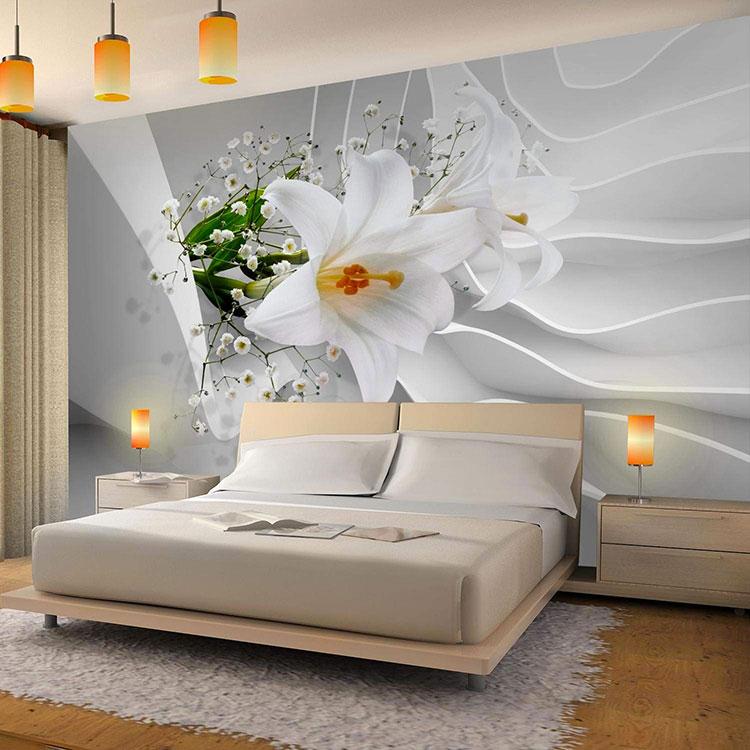 Modello di carta da parati floreale in stile moderno n.07