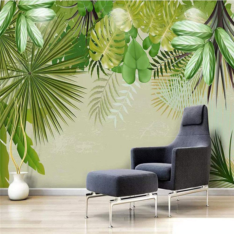 Modello di carta da parati floreale in stile tropicale n.02