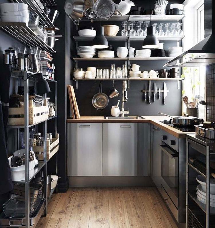 Modello di cucina industrial Ikea n.09