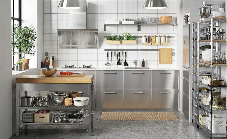 Modello di cucina industrial Ikea n.11