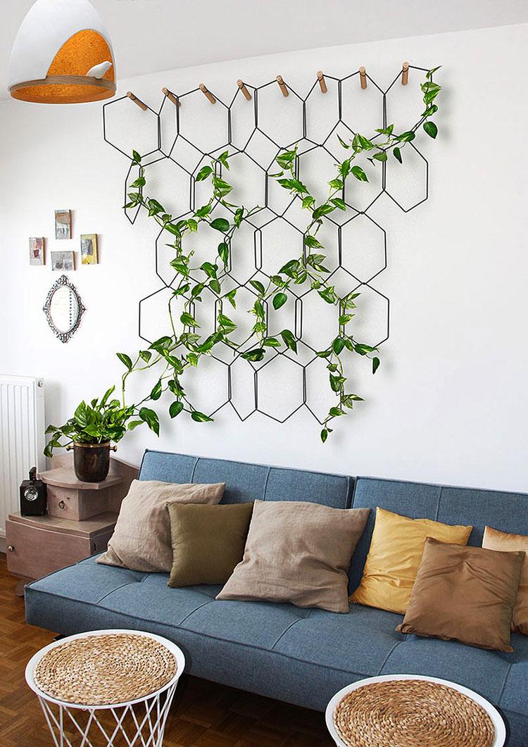 Pareti decorate con piante n.1