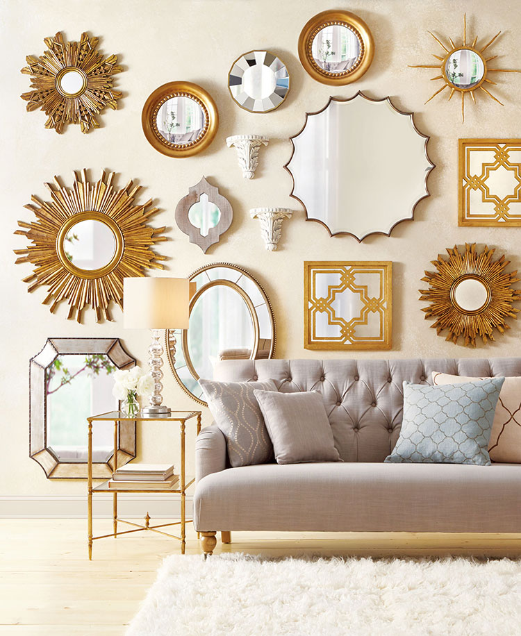 Pareti decorate con specchi n.1