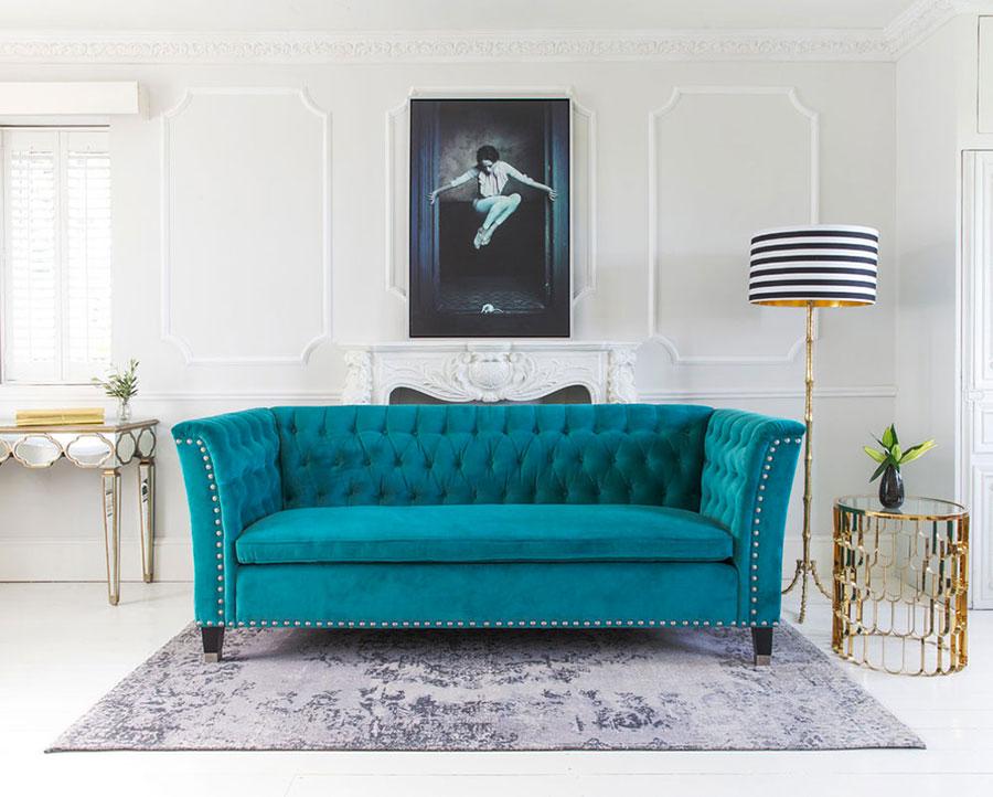 Idee per divano color ottanio n.1