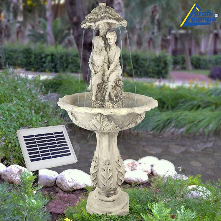 Modello di fontana solare da giardino n.20