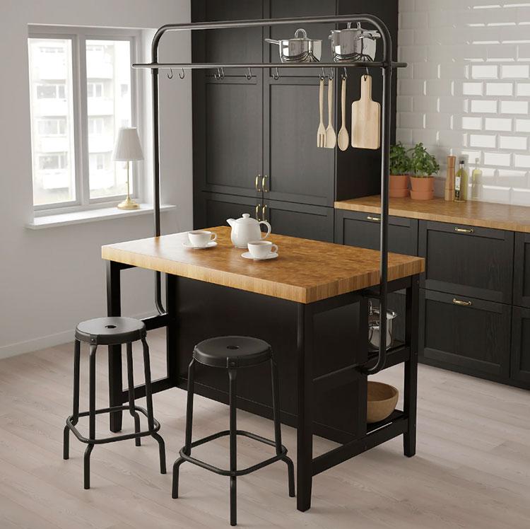 Modello di isola per cucina industrial Ikea n.01
