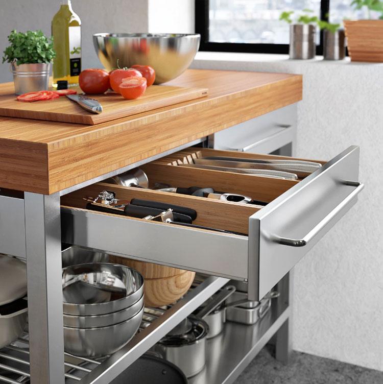 Modello di isola per cucina industrial Ikea n.04