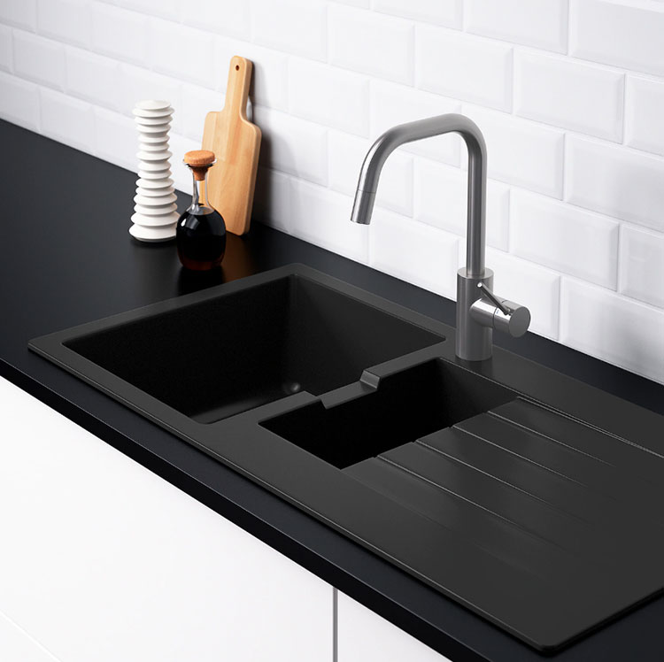 Modello di lavello e miscelatore per cucina industrial Ikea n.02