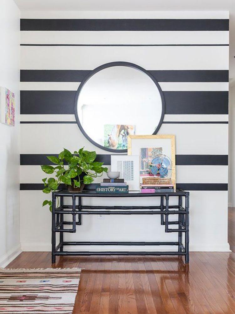 Idee per pittura di pareti a righe orizzontali n.01