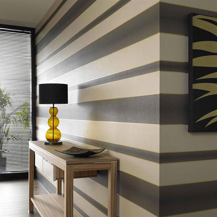 Idee per pittura di pareti a righe orizzontali n.02