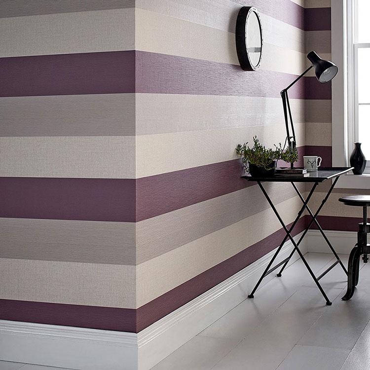 Idee per pittura di pareti a righe orizzontali n.04