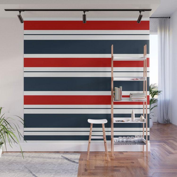 Idee per pittura di pareti a righe orizzontali n.05