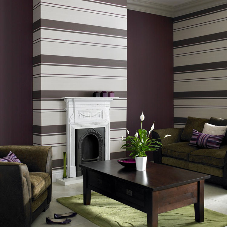 Idee per pittura di pareti a righe orizzontali n.07