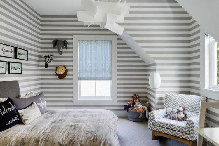 Idee per pittura di pareti a righe orizzontali n.17