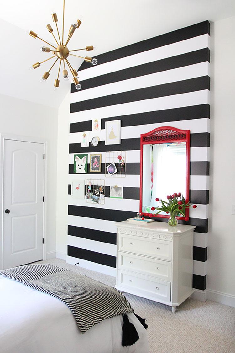 Idee per pittura di pareti a righe orizzontali n.18