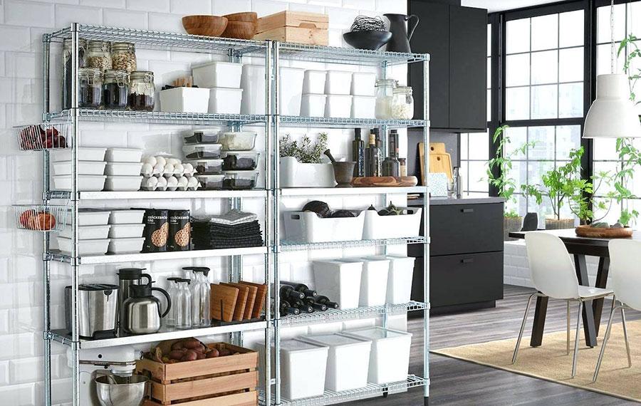 Modello di scaffale per cucina industrial Ikea n.01