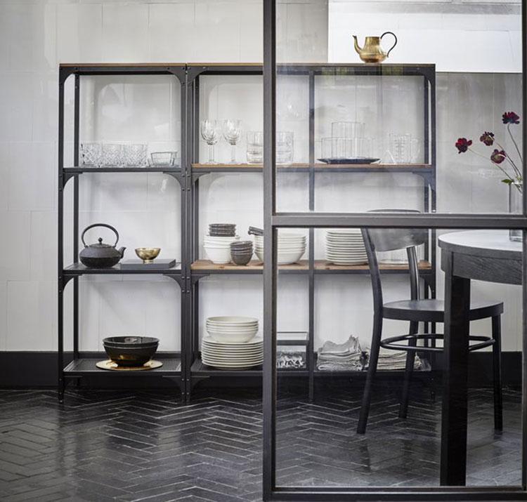 Modello di scaffale per cucina industrial Ikea n.02
