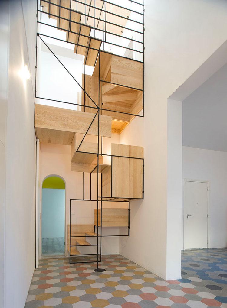 Modello di scale interne salvaspazio n.02