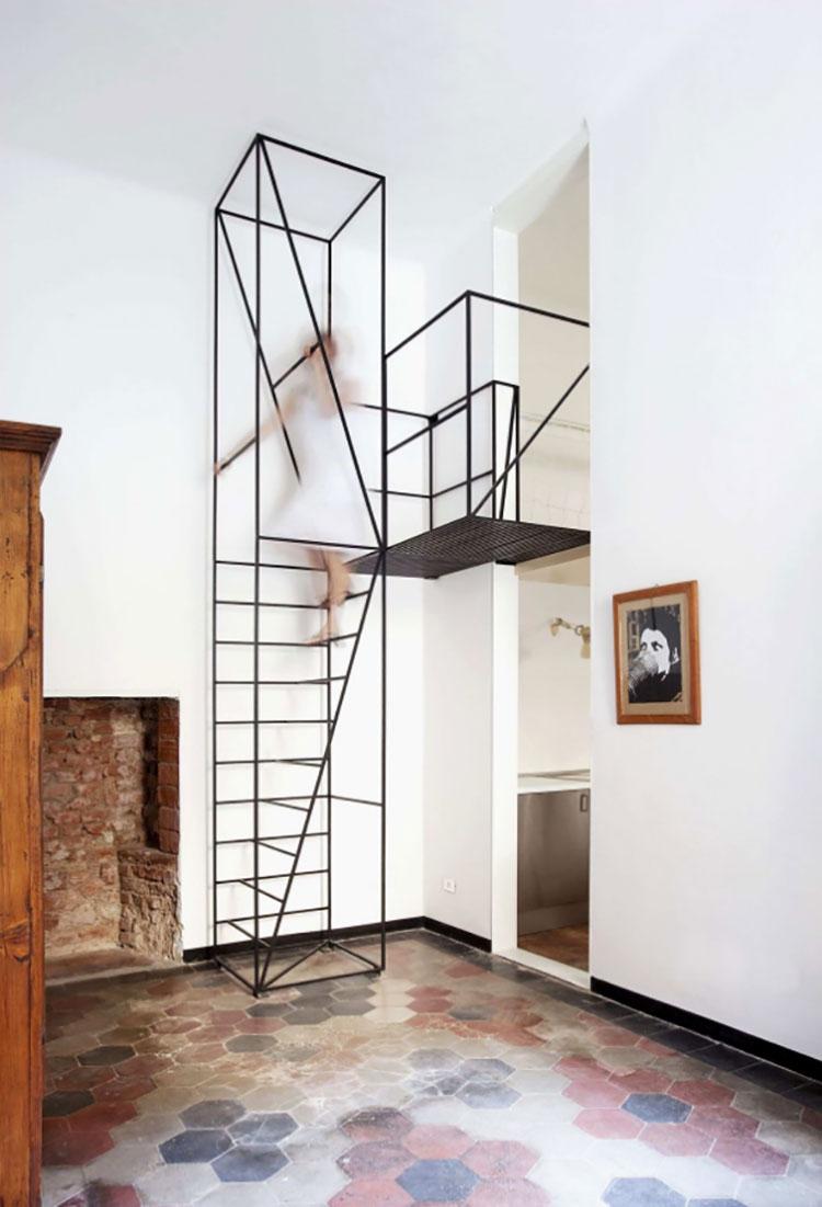 Modello di scale interne salvaspazio n.03