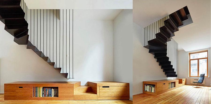 Modello di scale interne salvaspazio n.06