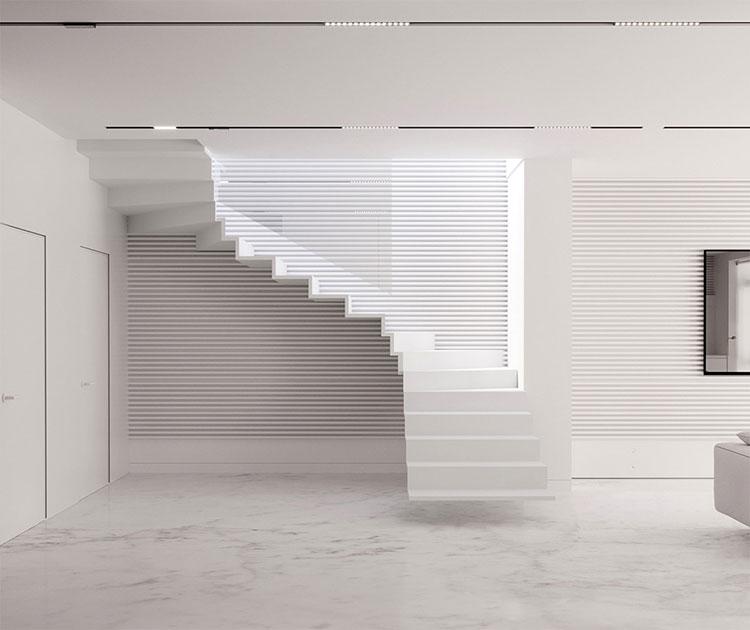 Modello di scale interne salvaspazio n.07