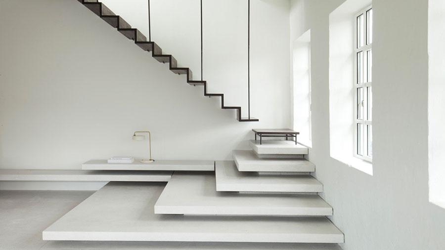 Modello di scale interne salvaspazio n.08