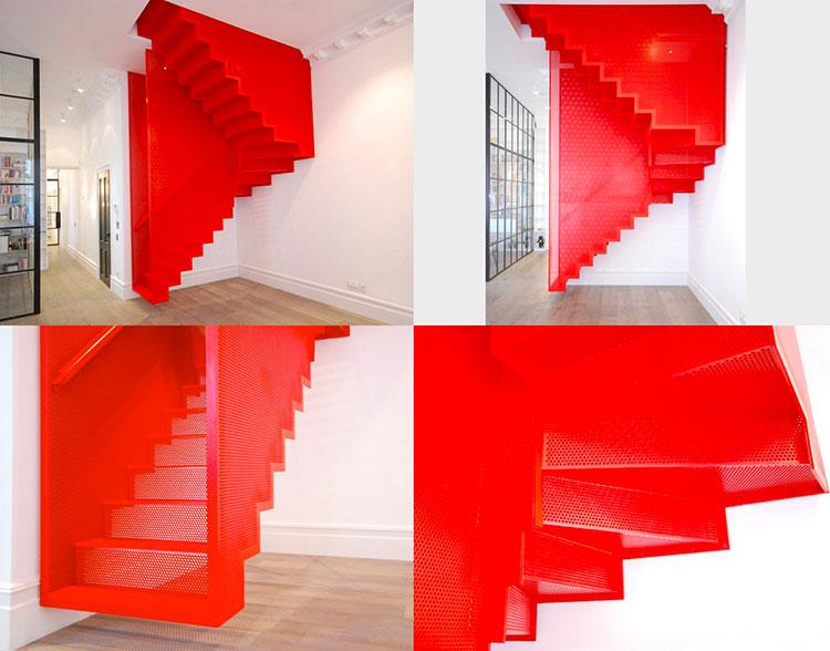 Modello di scale interne salvaspazio n.12