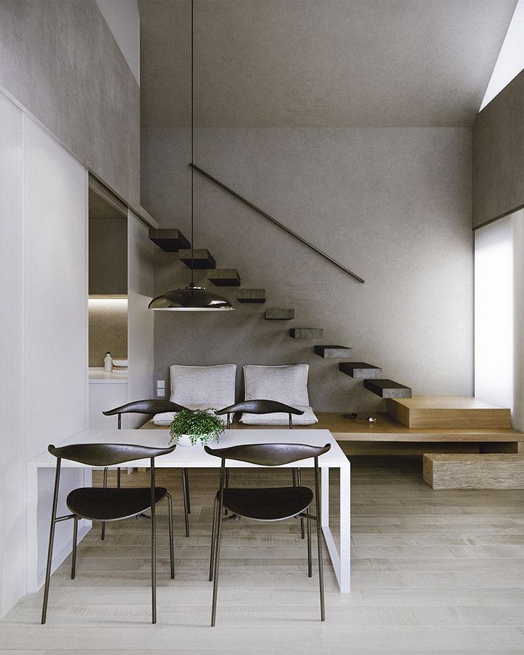 Modello di scale interne salvaspazio n.13