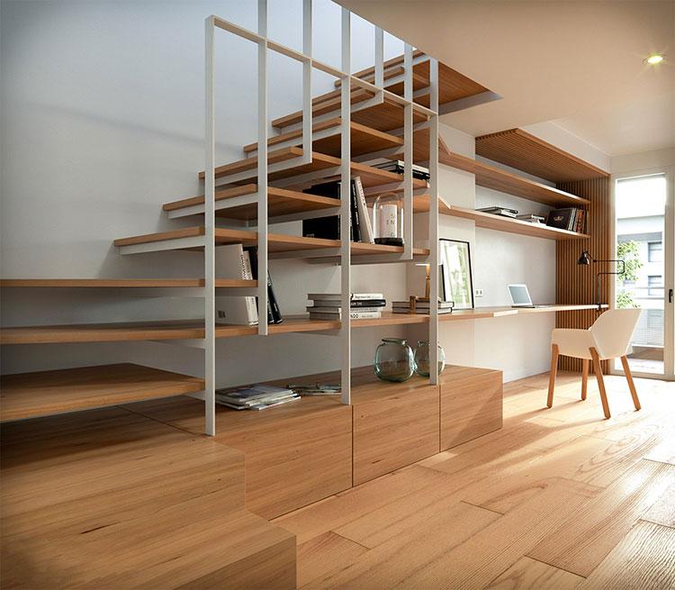 Modello di scale interne salvaspazio n.14