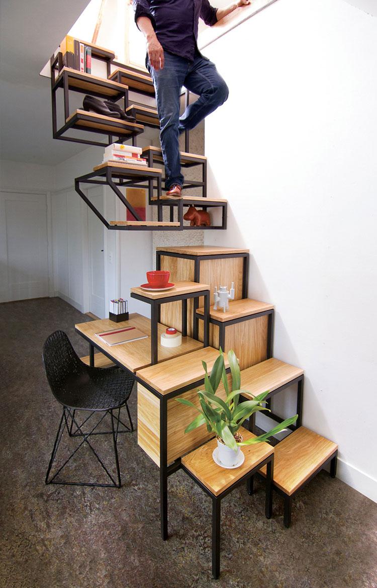 Modello di scale interne salvaspazio n.15
