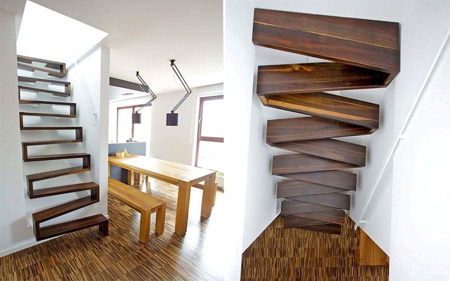 Modello di scale interne salvaspazio n.18