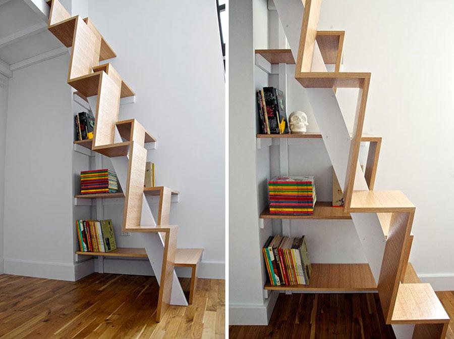 Modello di scale interne salvaspazio n.19