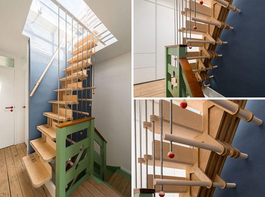 Modello di scale interne salvaspazio n.20