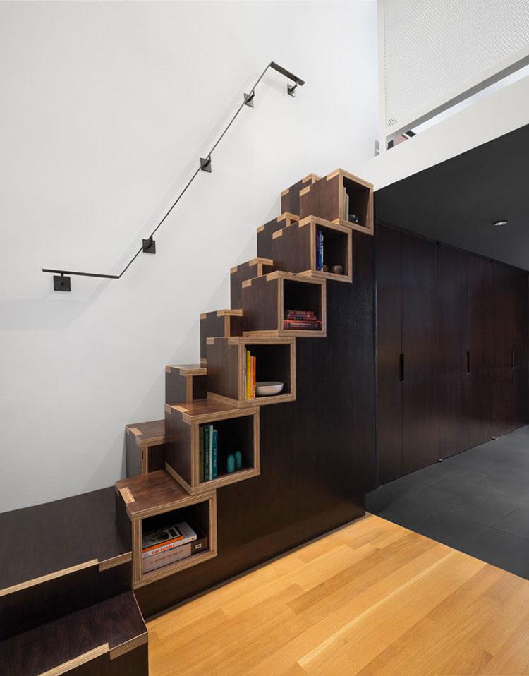 Modello di scale interne salvaspazio n.21