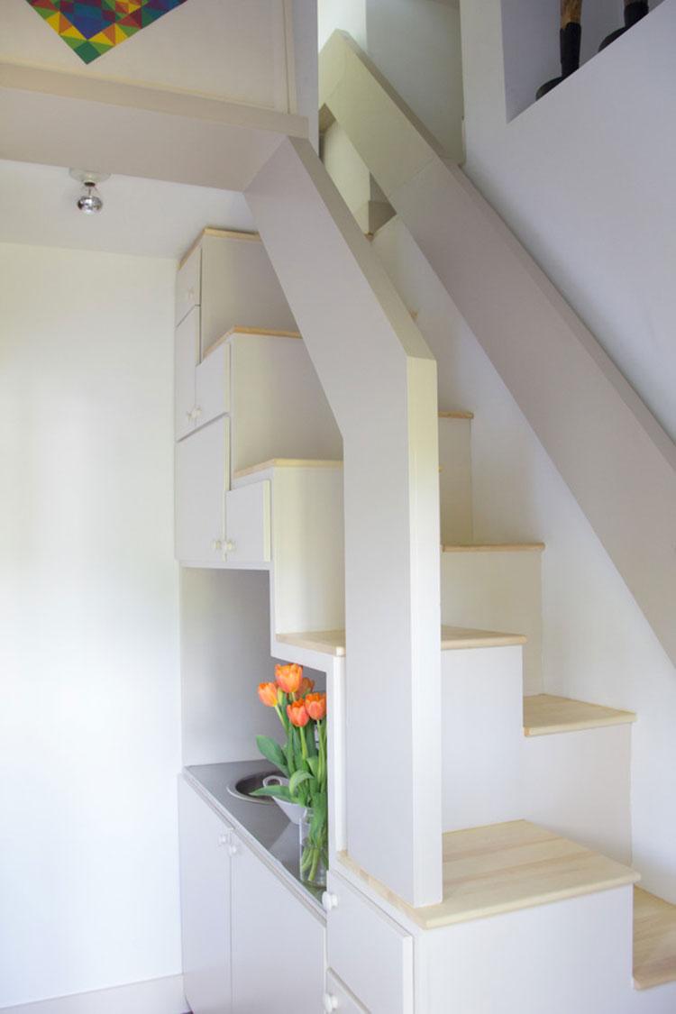 Modello di scale interne salvaspazio n.24