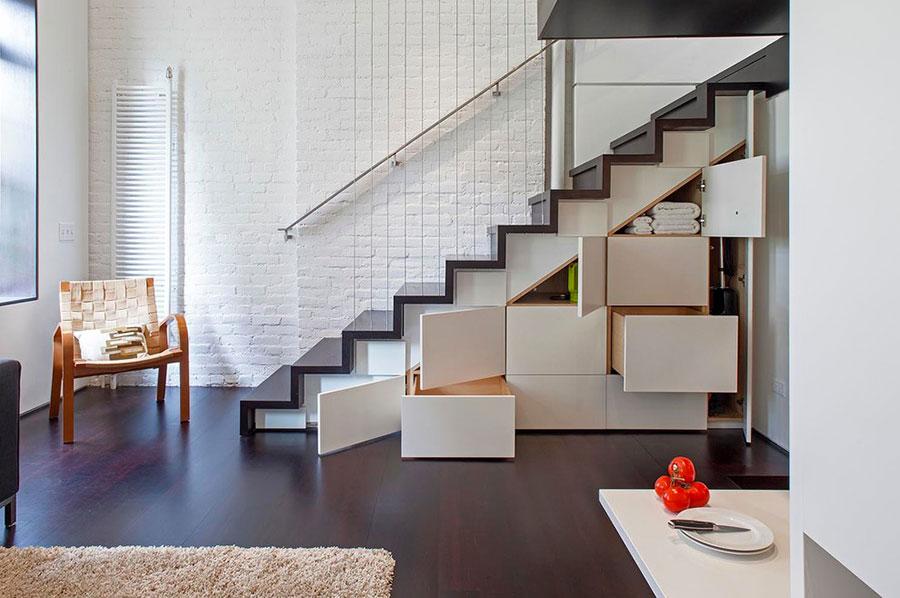 Modello di scale interne salvaspazio n.25