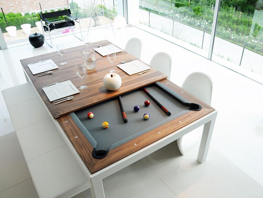 Modello di tavolo da biliardo trasformabile n.01