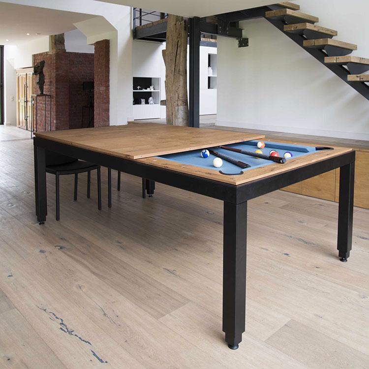 Modello di tavolo da biliardo trasformabile n.02