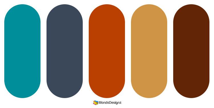 Palette colore ruggine n.03