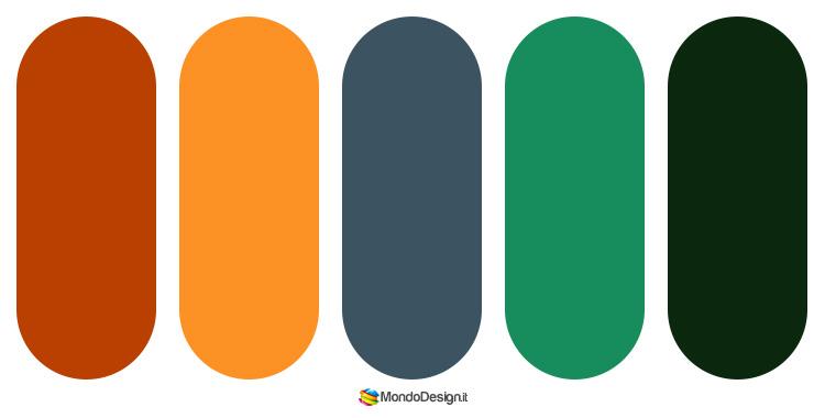 Palette colore ruggine n.05