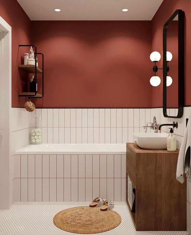 Idee per bagni color ruggine n.01