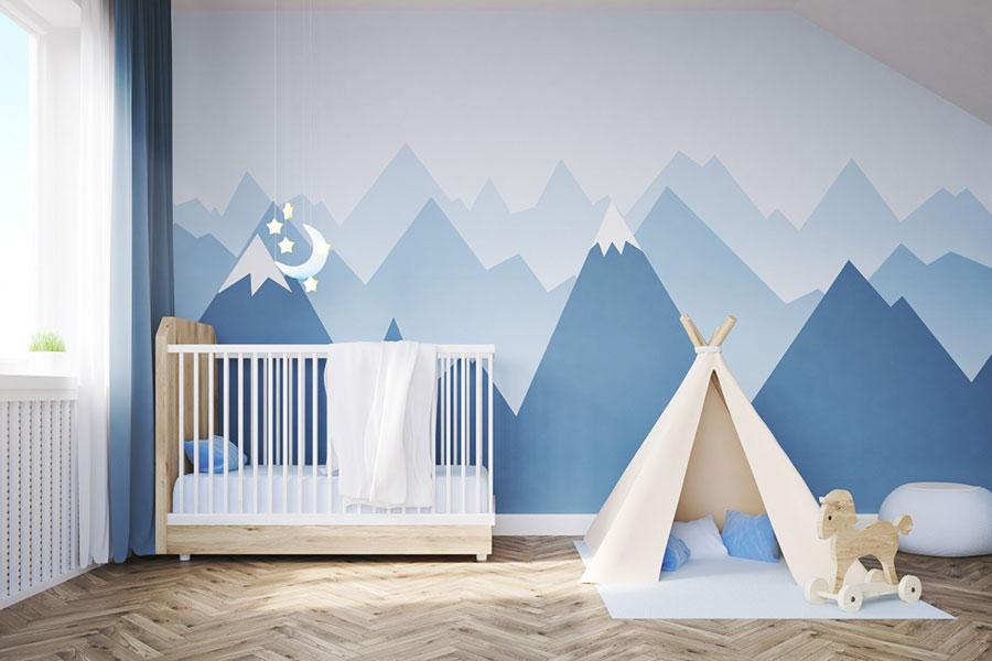 Idee per camerette con pareti decorate n.01