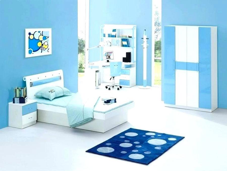 Idee di design per arredare una cameretta azzurra n.09